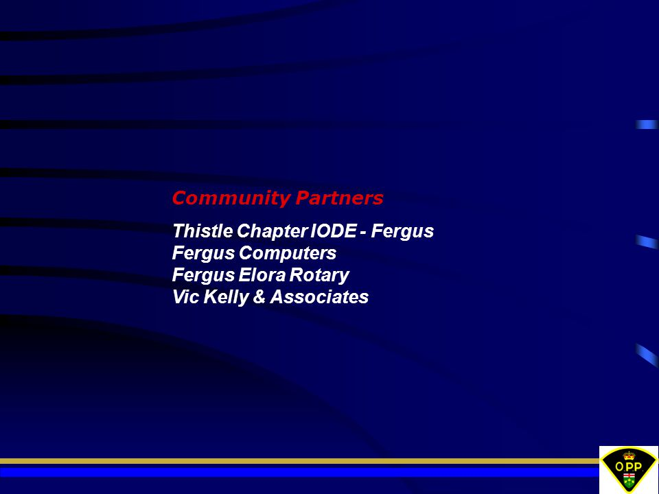 Community Partners Thistle Chapter IODE - Fergus Fergus Computers Fergus Elora Rotary Vic Kelly & Associates.