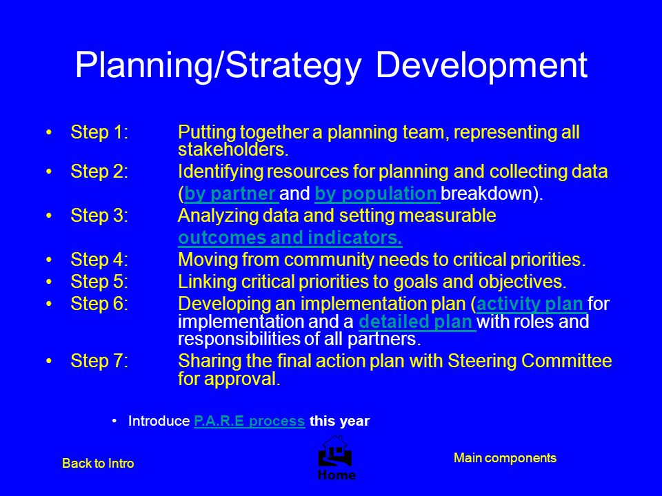 Planning/Strategy Development