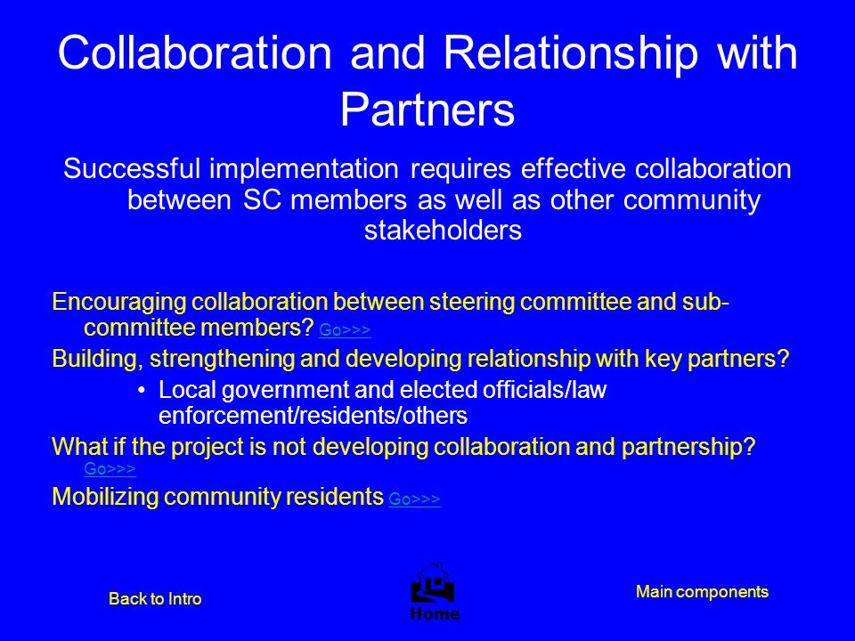 Collaboration and Relationship with Partners
