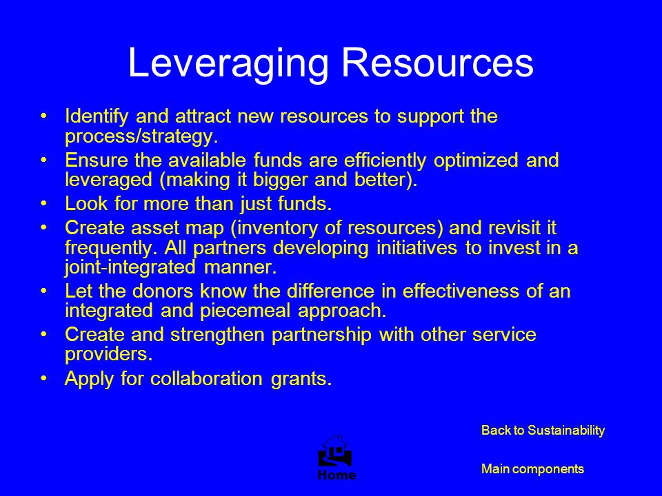 Leveraging Resources 
