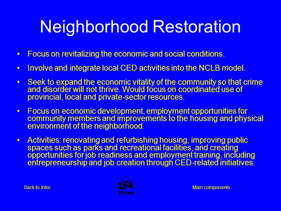 Neighborhood Restoration