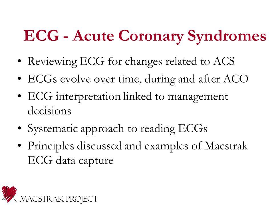 ECG - Acute Coronary Syndromes