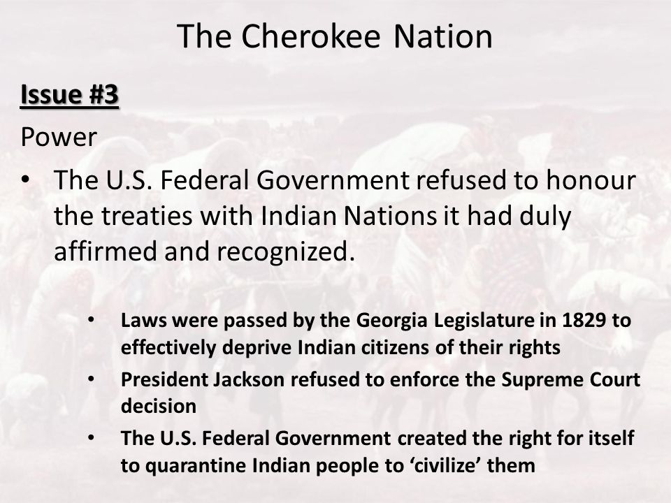 The Cherokee Nation Issue #3 Power