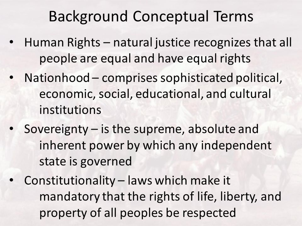 Background Conceptual Terms