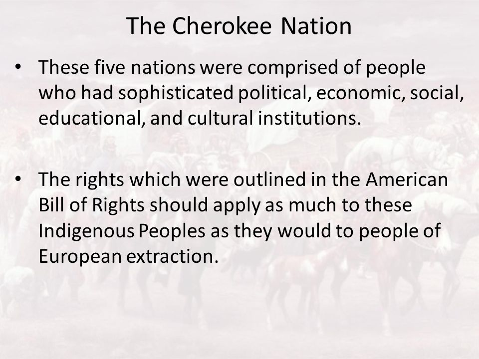 The Cherokee Nation