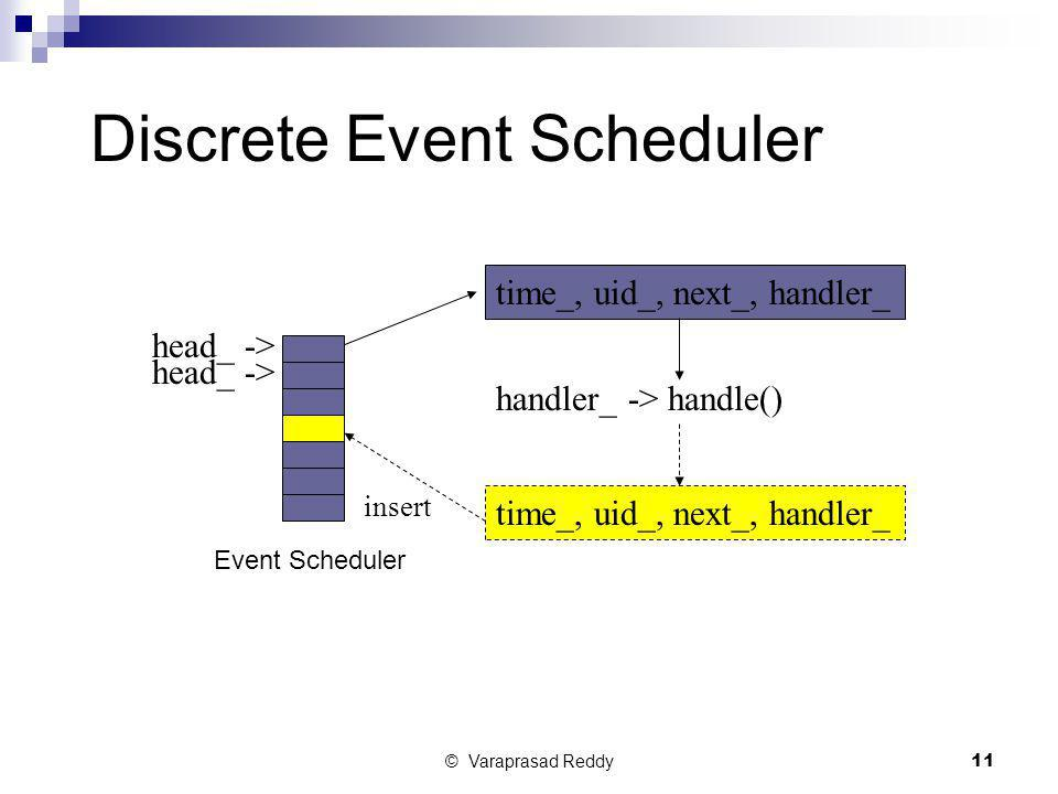 Discrete Event Scheduler