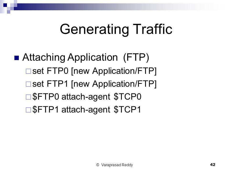 Generating Traffic Attaching Application (FTP)