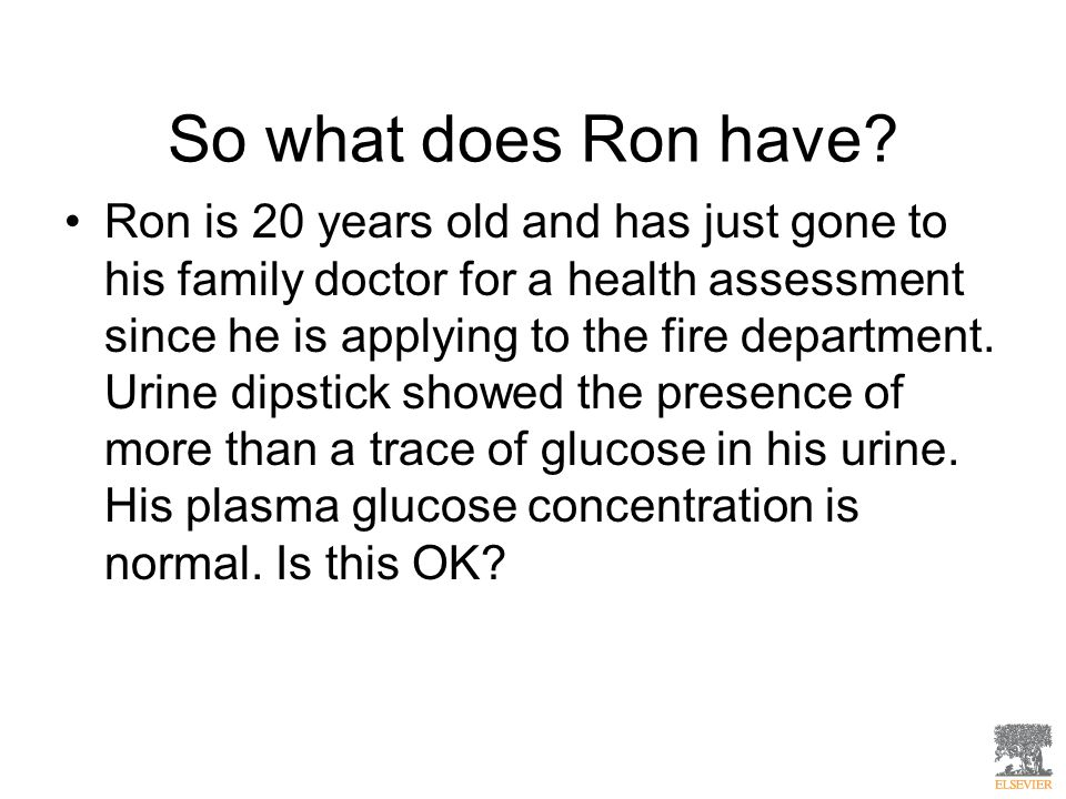 So what does Ron have