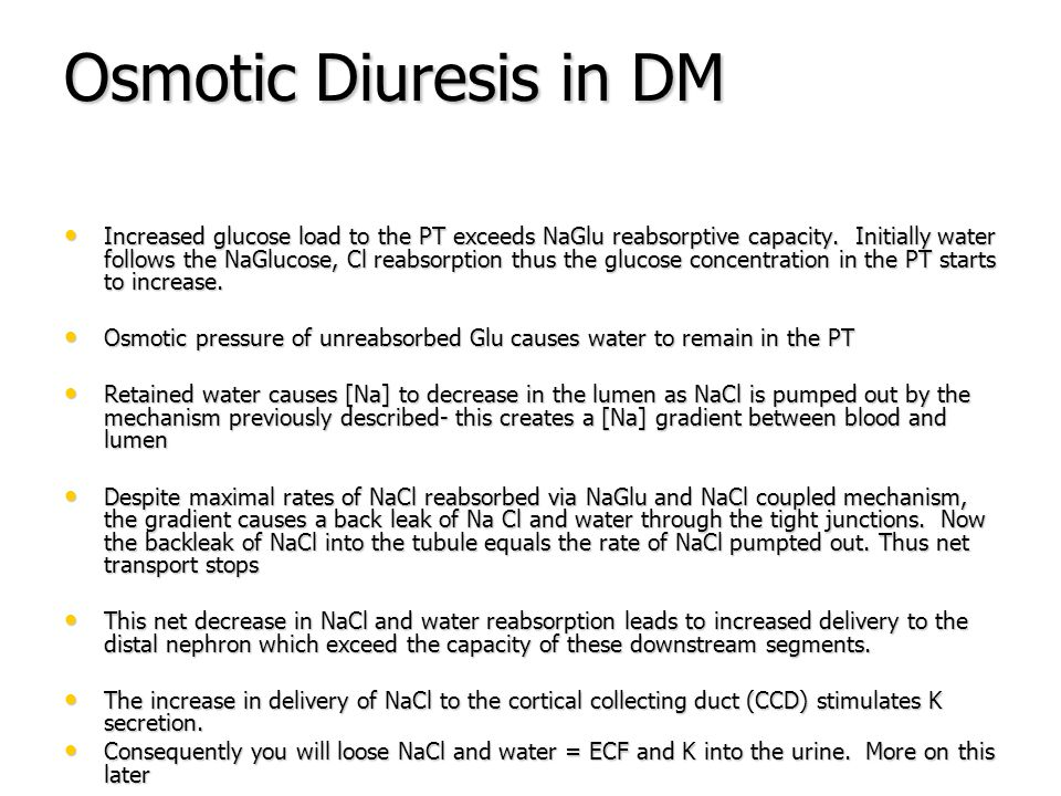 Osmotic Diuresis in DM