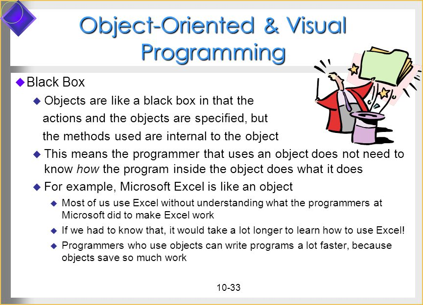 Object-Oriented & Visual Programming