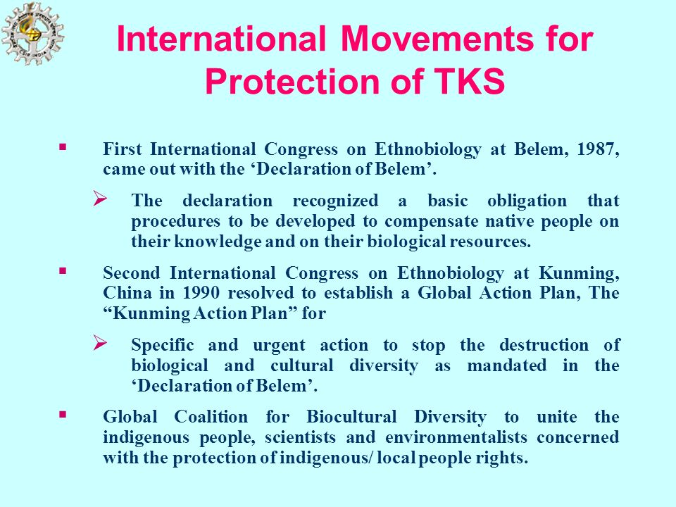International Movements for Protection of TKS
