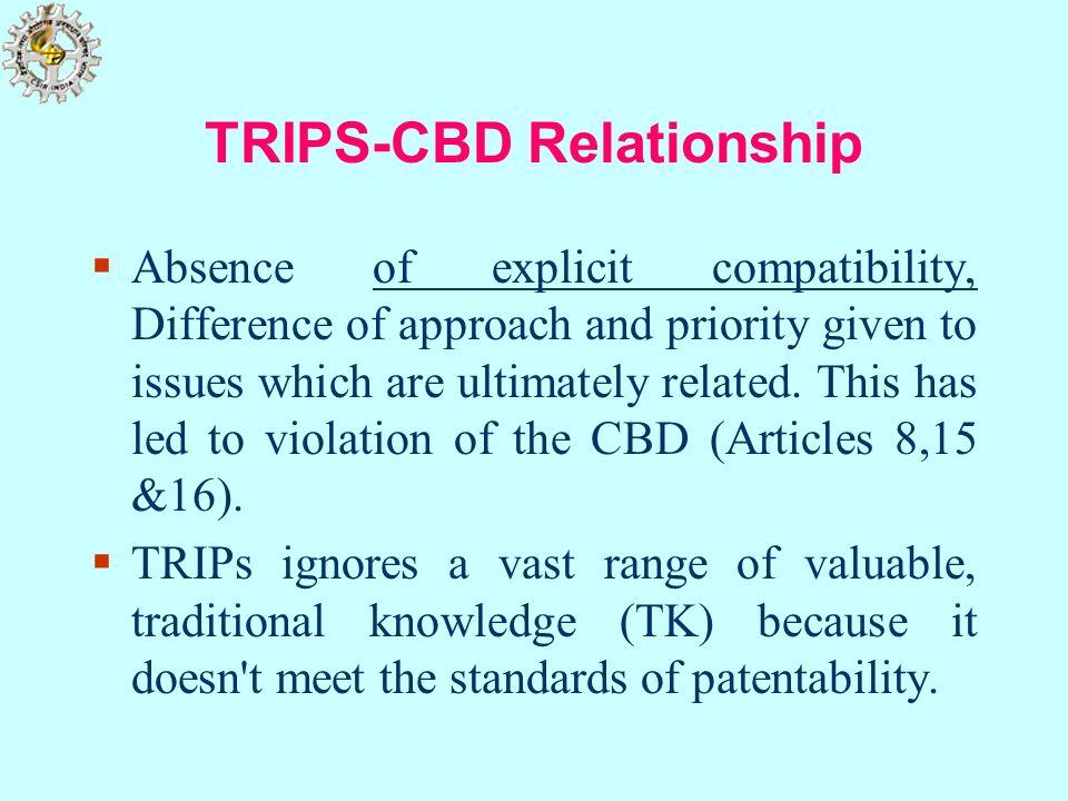 TRIPS-CBD Relationship