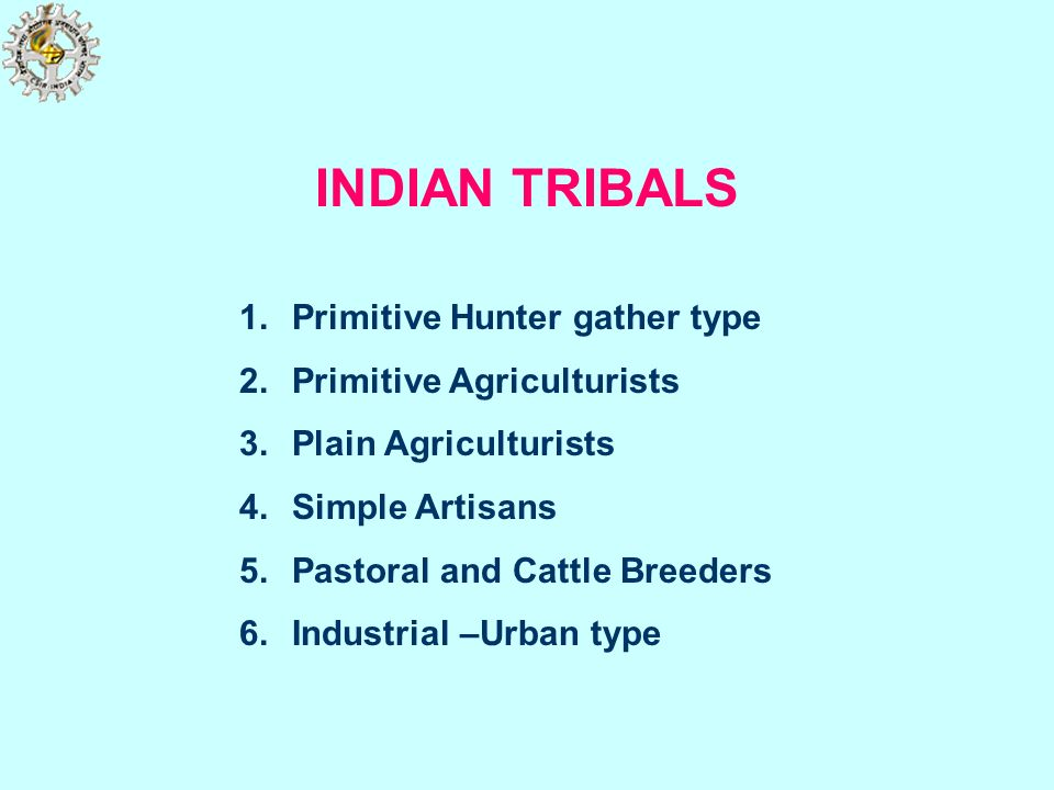 INDIAN TRIBALS Primitive Hunter gather type Primitive Agriculturists