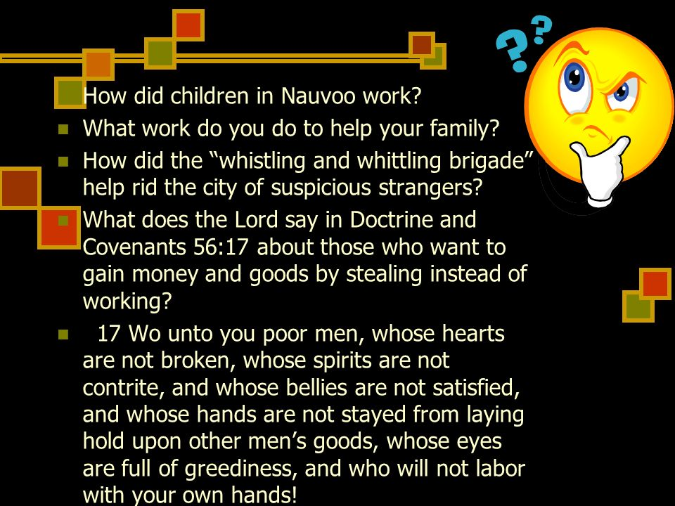 How did children in Nauvoo work