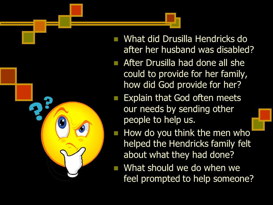 What did Drusilla Hendricks do after her husband was disabled