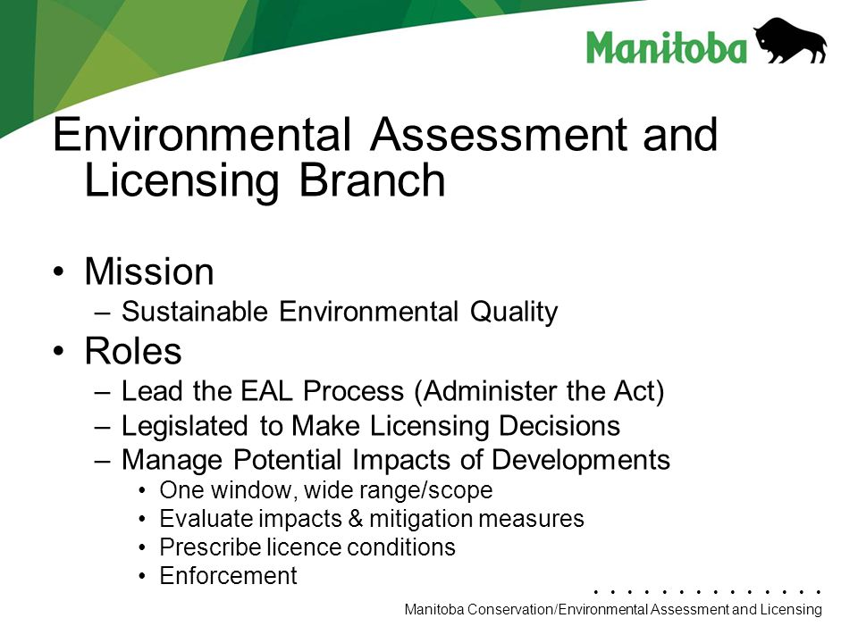 Environmental Assessment and Licensing Branch