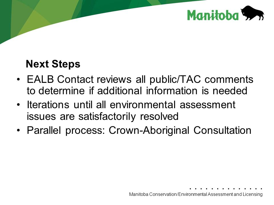 Parallel process: Crown-Aboriginal Consultation Next Steps
