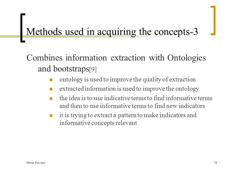 Methods used in acquiring the concepts-3
