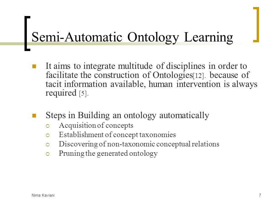 Semi-Automatic Ontology Learning