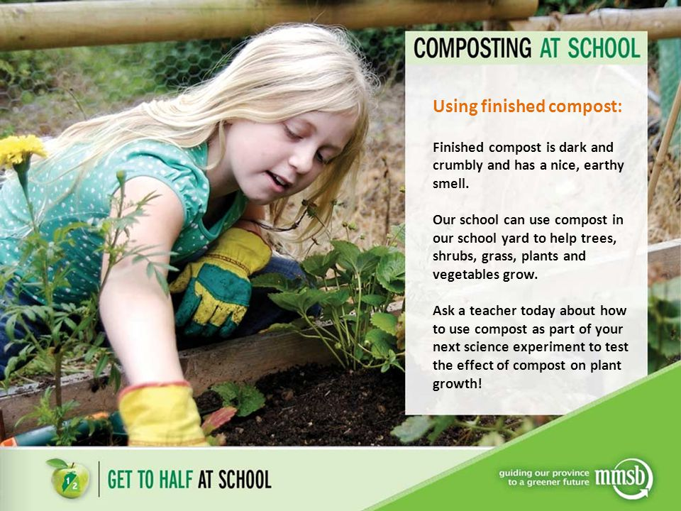 Using finished compost: