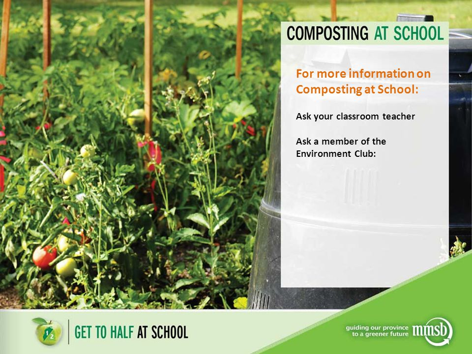 For more information on Composting at School: