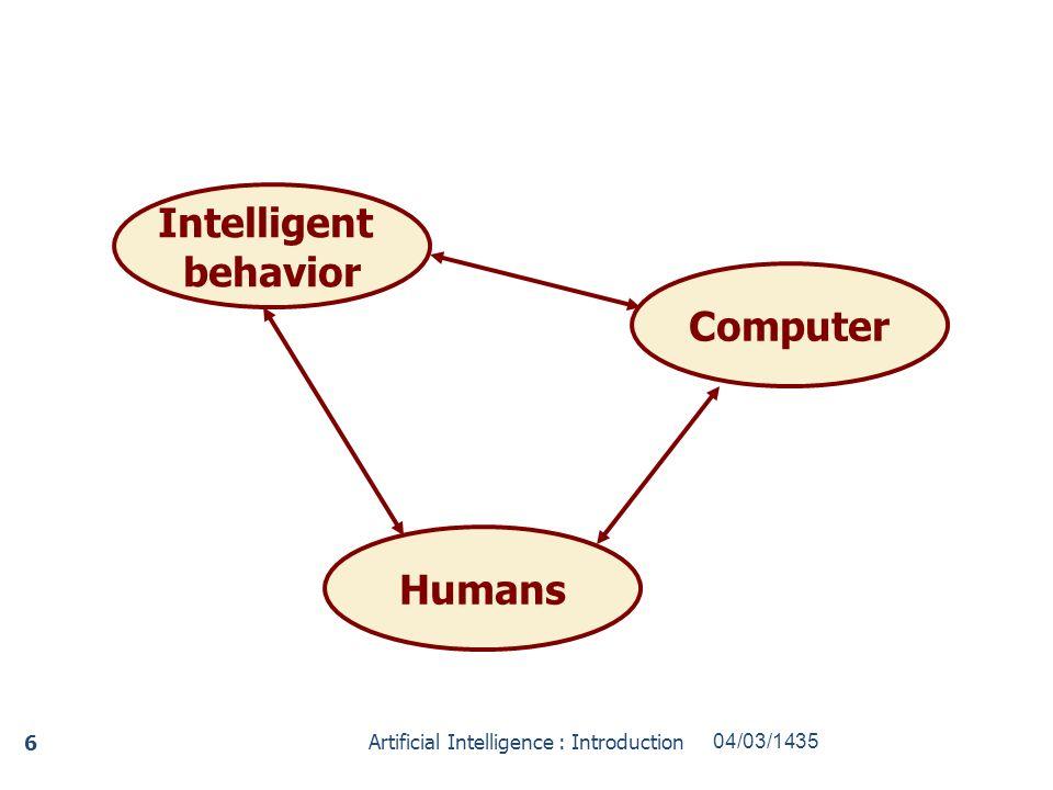Intelligent behavior Humans Computer
