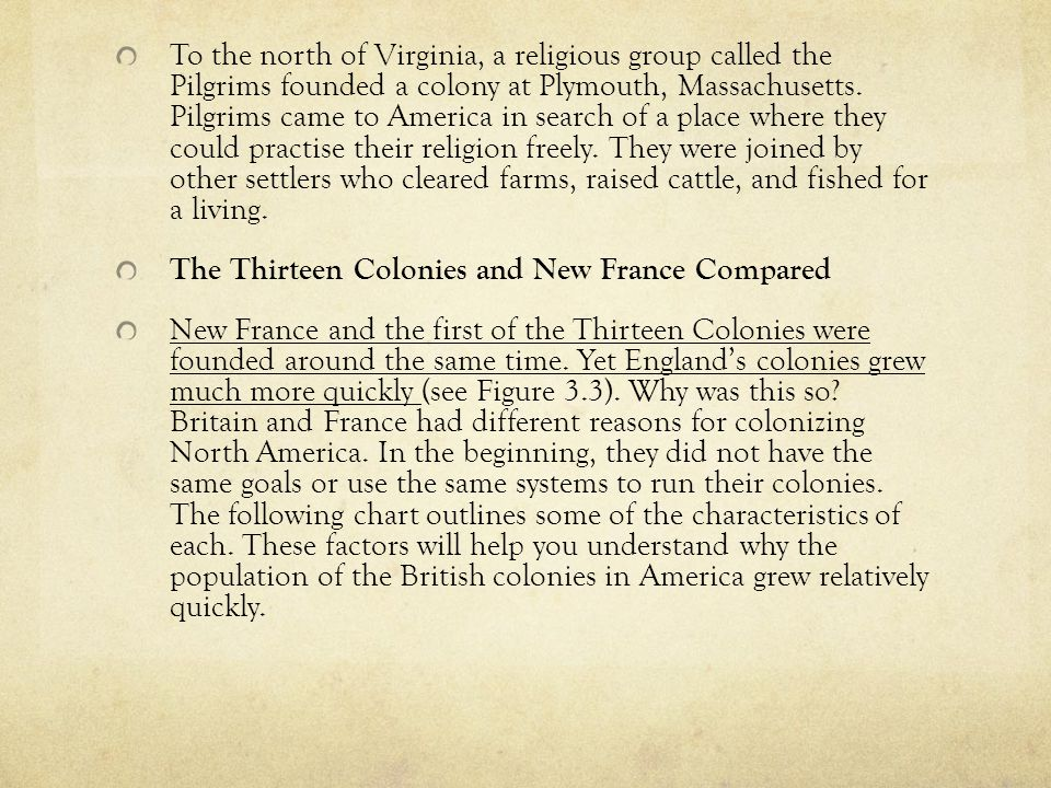 reasons for founding different colonies in north america Start studying 13 colonies and their reasons for founding learn vocabulary,  terms  it later split into north and south carolina georgia (southern colony) it .