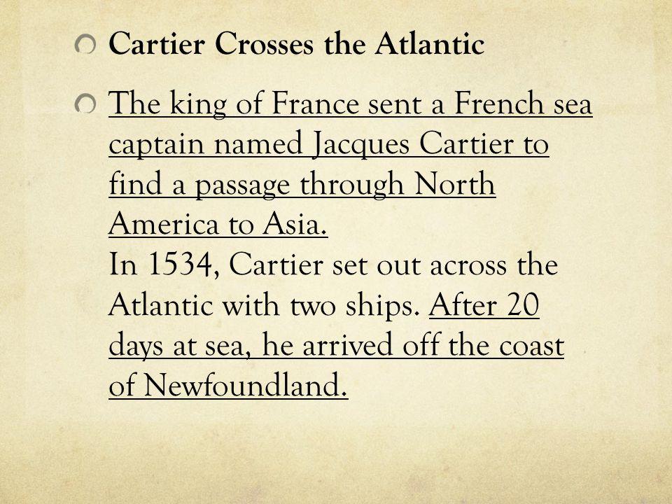 Cartier Crosses the Atlantic