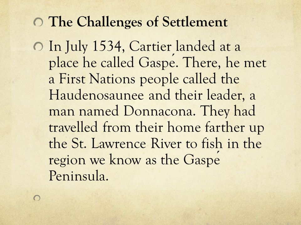 The Challenges of Settlement