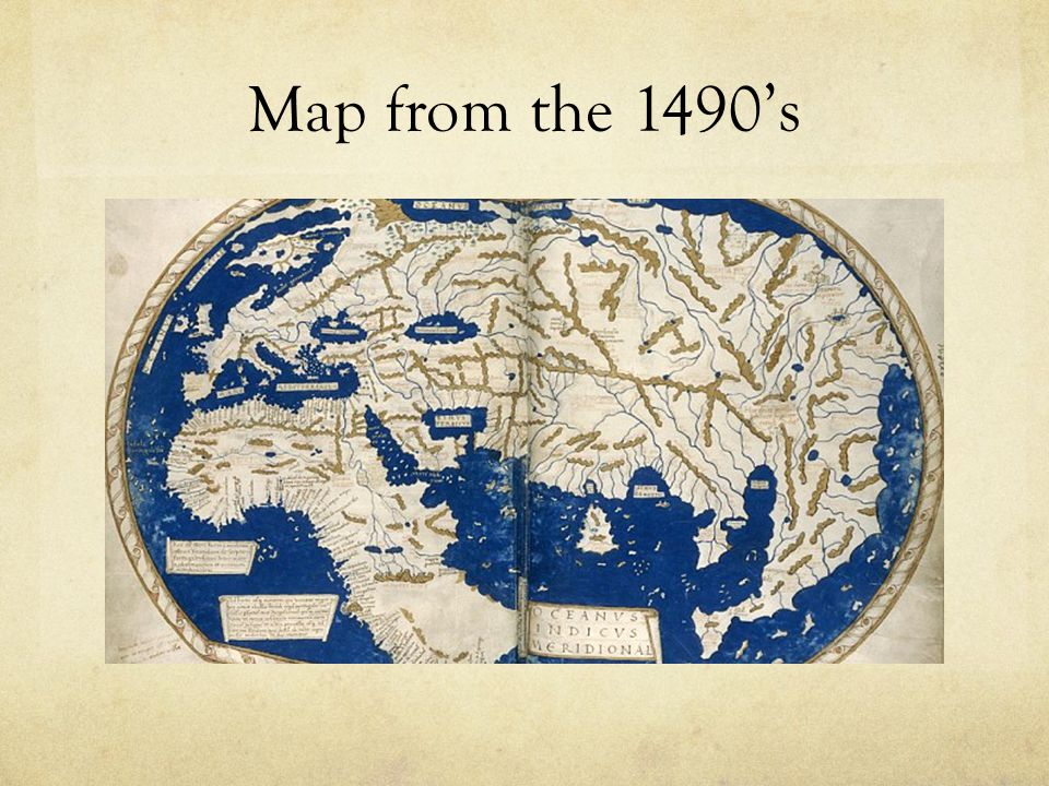Map from the 1490's