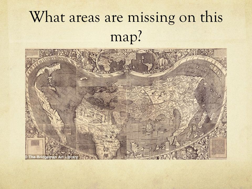 What areas are missing on this map