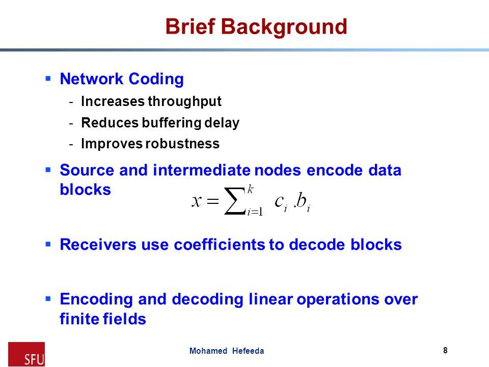 Brief Background Network Coding