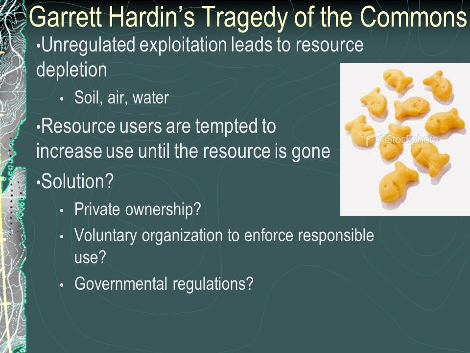 Garrett Hardin's Tragedy of the Commons