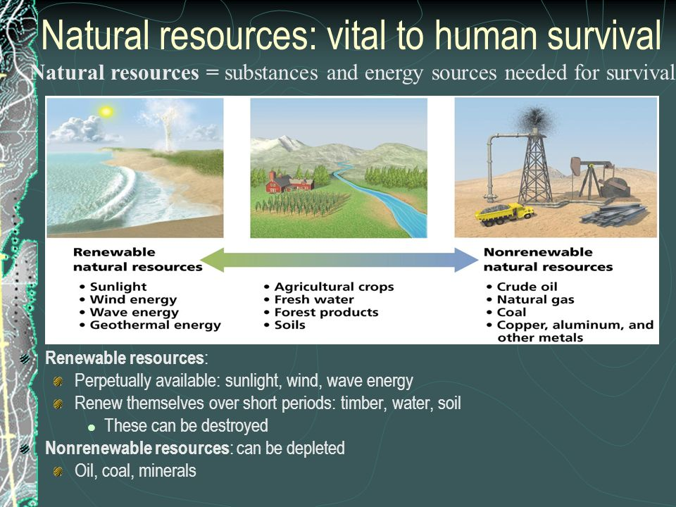 Natural resources: vital to human survival
