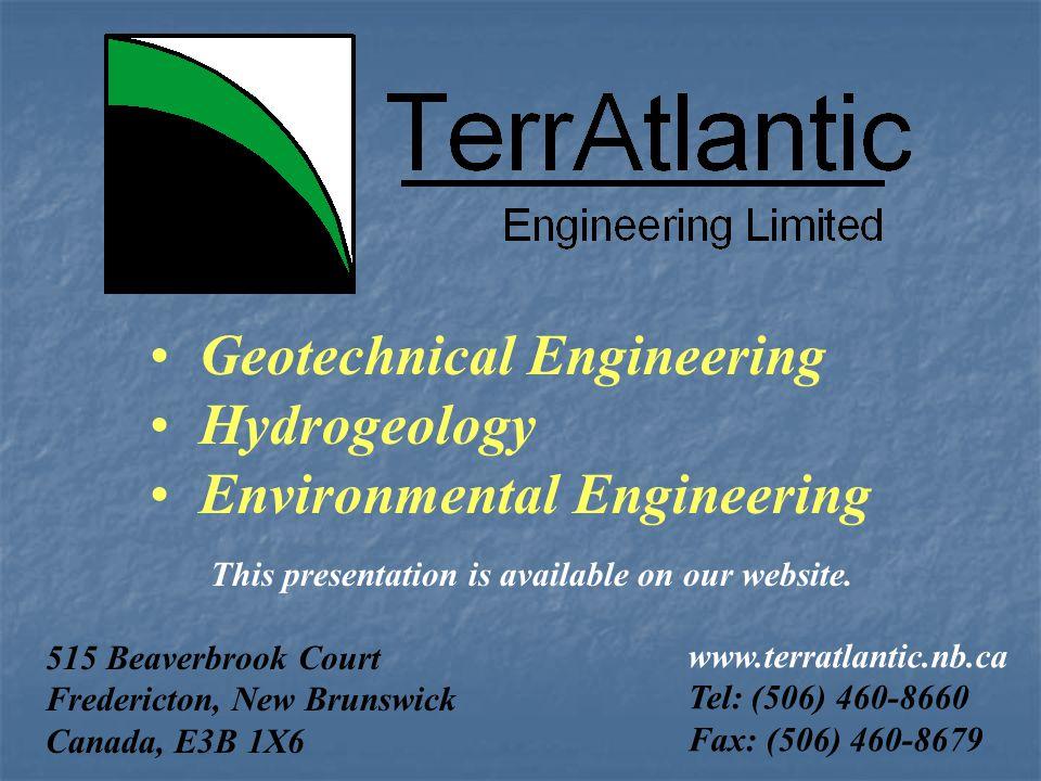 Geotechnical Engineering Hydrogeology Environmental Engineering