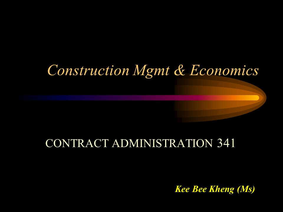 Construction Mgmt & Economics