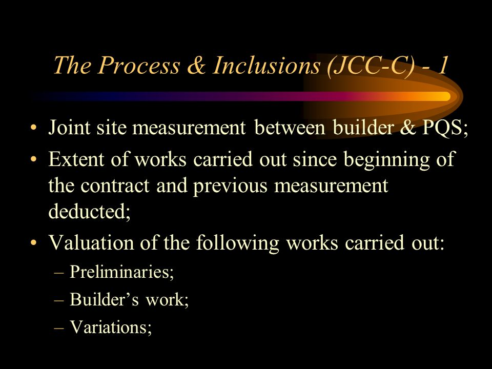 The Process & Inclusions (JCC-C) - 1
