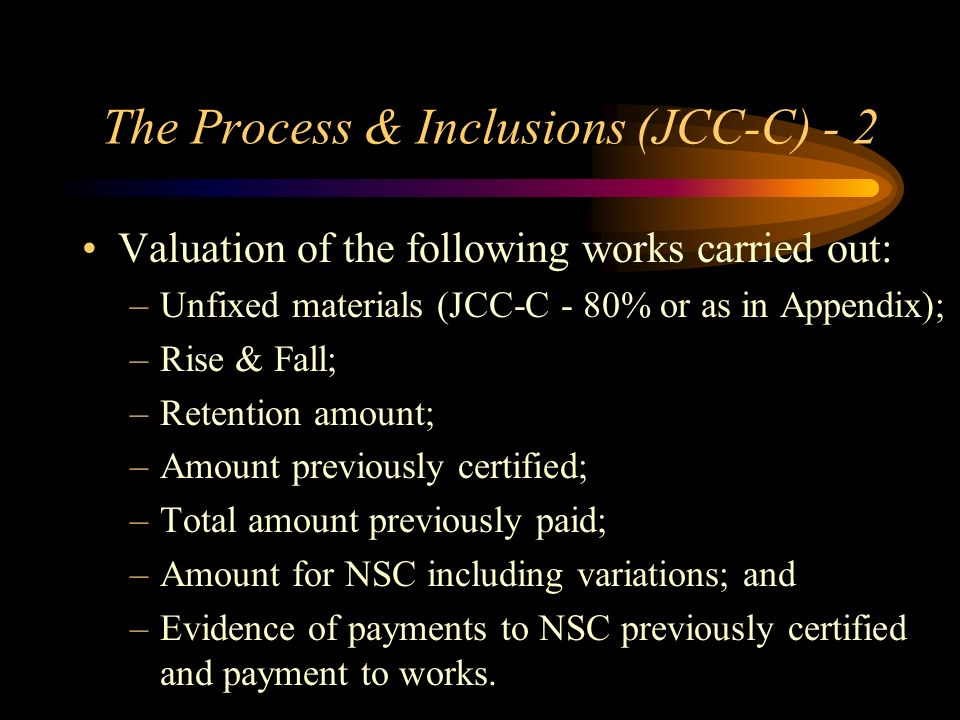 The Process & Inclusions (JCC-C) - 2