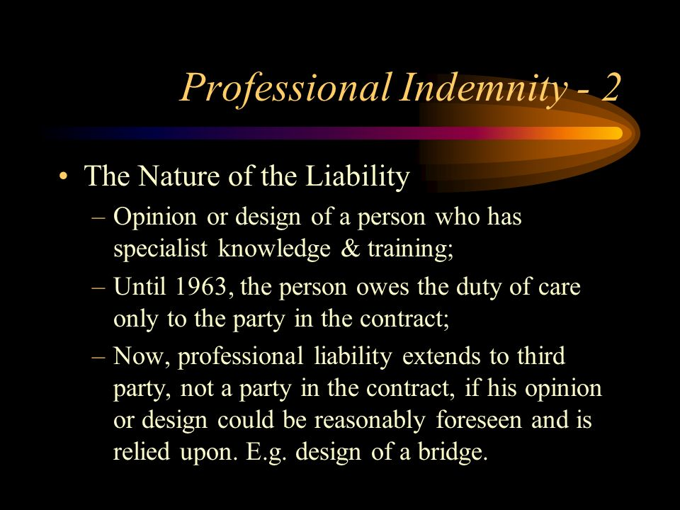Professional Indemnity - 2