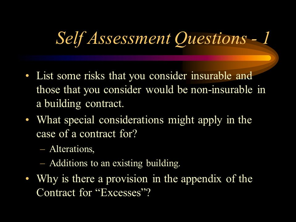 Self Assessment Questions - 1