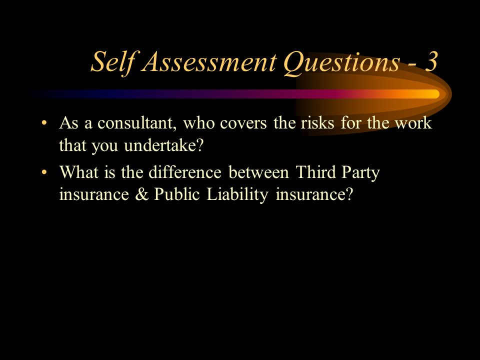 Self Assessment Questions - 3