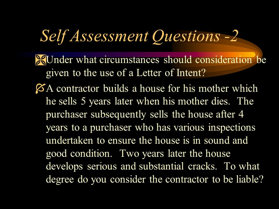 Self Assessment Questions -2