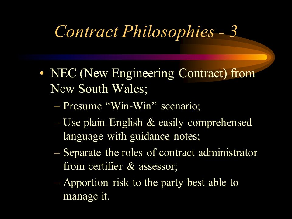 Contract Philosophies - 3