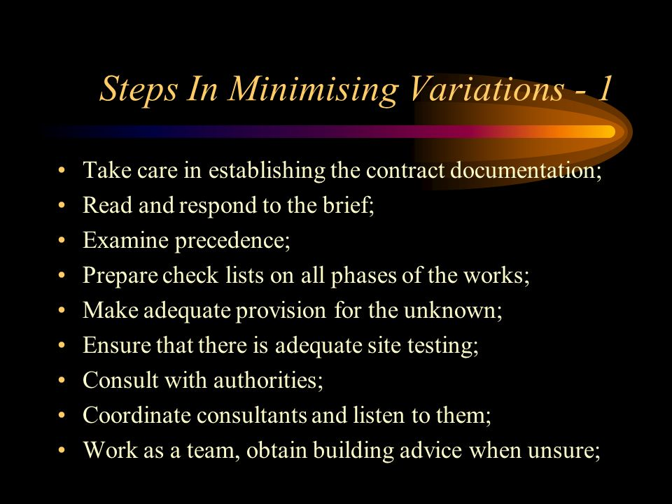 Steps In Minimising Variations - 1