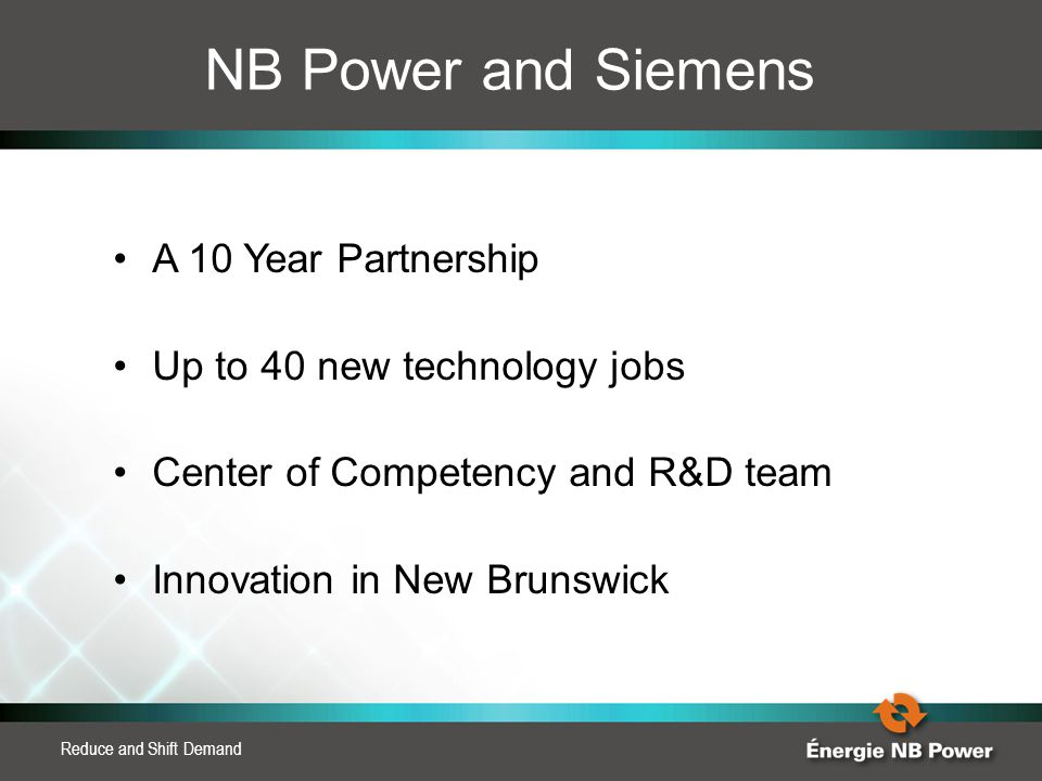 NB Power and Siemens A 10 Year Partnership