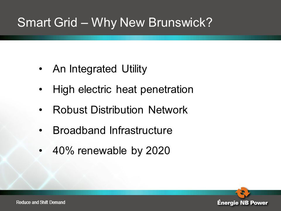Smart Grid – Why New Brunswick