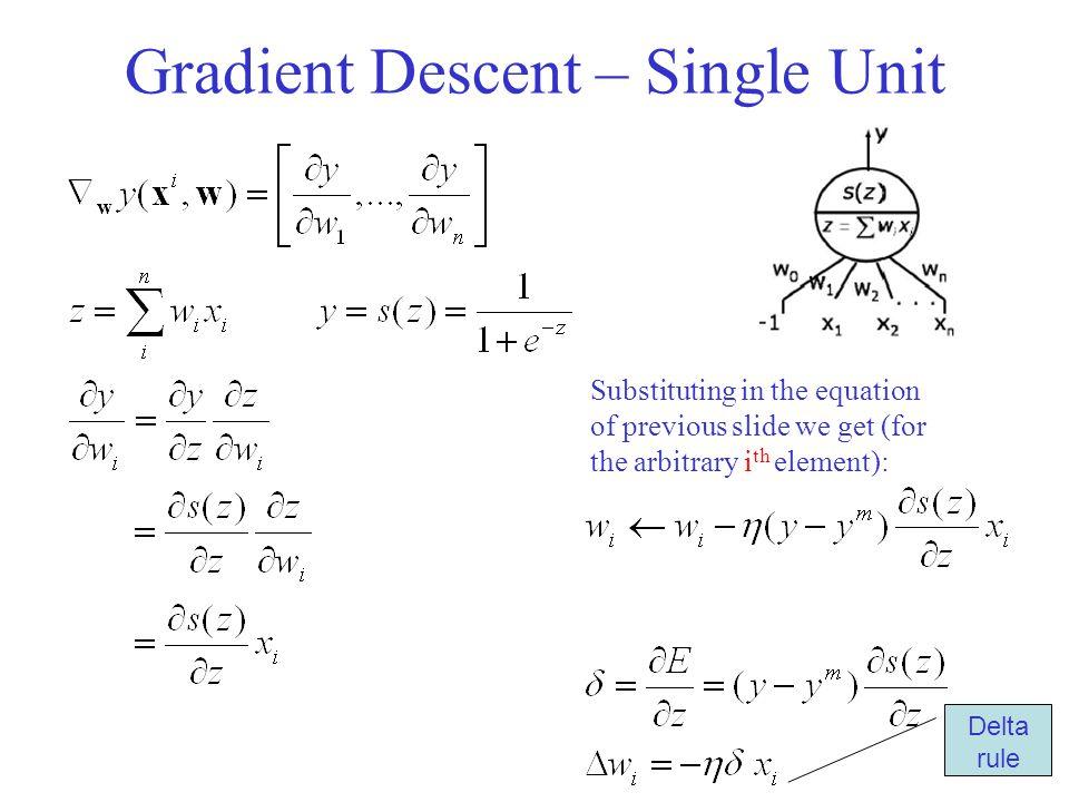 Gradient Descent – Single Unit