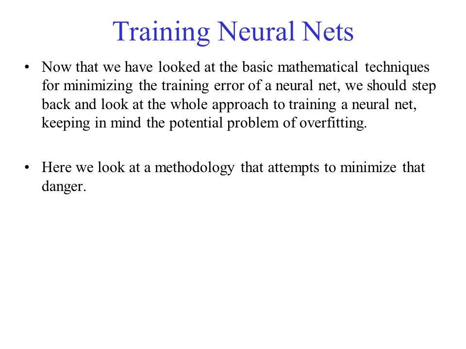 Training Neural Nets