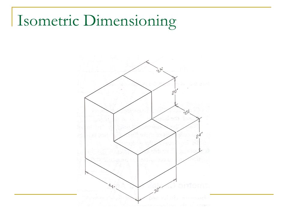 Isometric Dimensioning