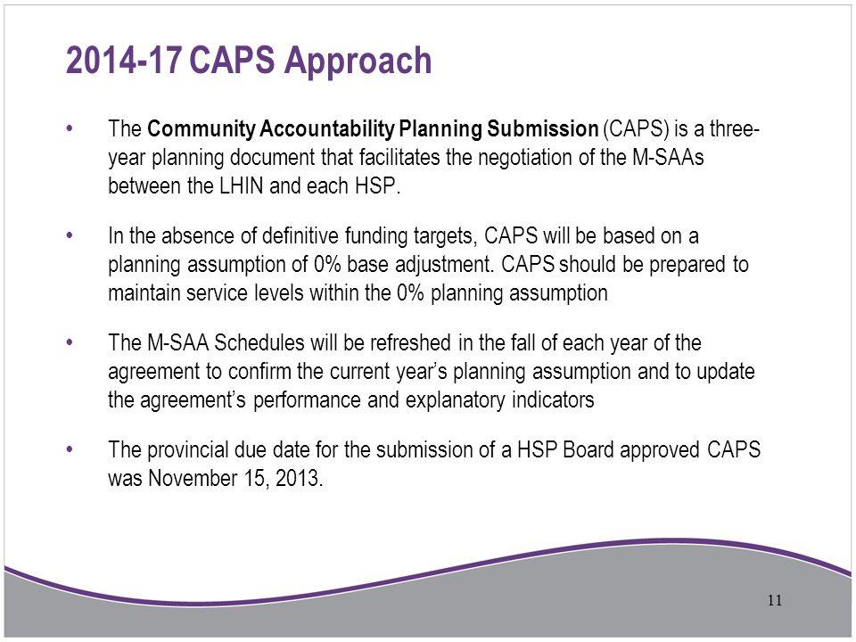 2014-17 CAPS Approach